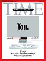 The person of the year is you !